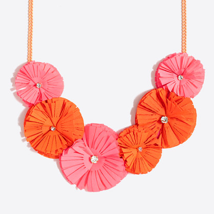Girls' fringe flower necklace