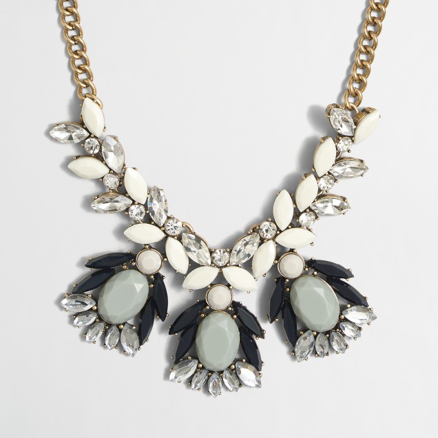 Abstract stone and crystal necklace