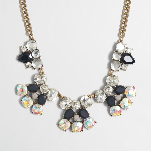 Gemstone burst necklace