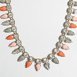 Factory stone drops necklace