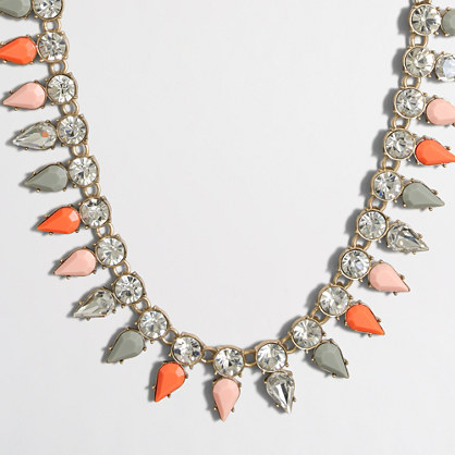 Stone drops necklace