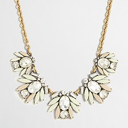 Factory tiled crystal necklace
