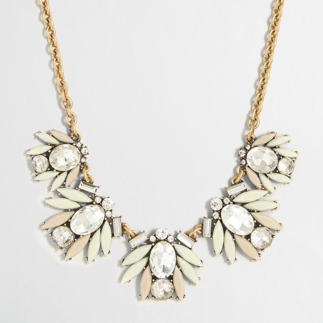 Tiled crystal necklace