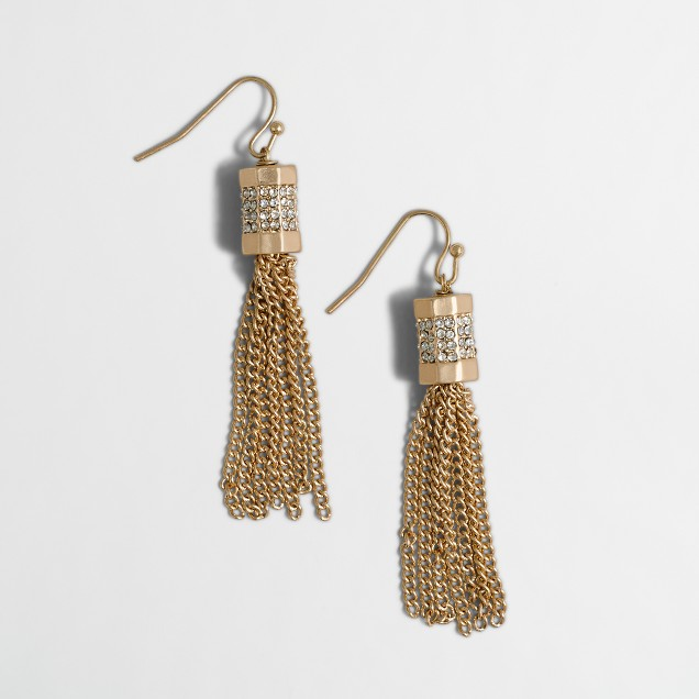 Pavé tassel earrings
