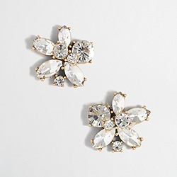 Factory crystal blossom earrings