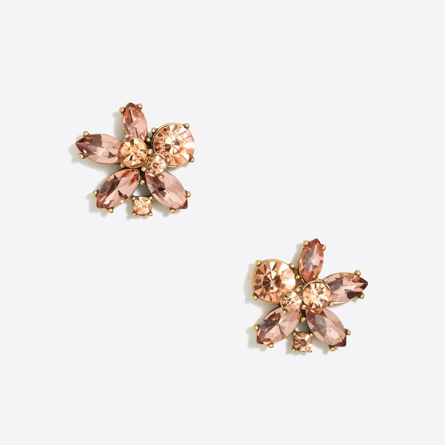 Crystal blossom earrings