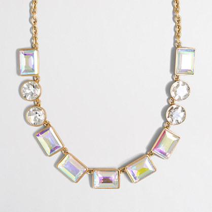 Iridescent gems necklace