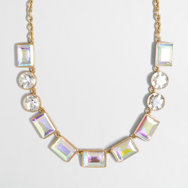 Iridescent gems necklace