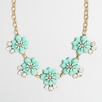 Stacked statement clusters necklace