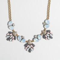 Mixed stone trio necklace