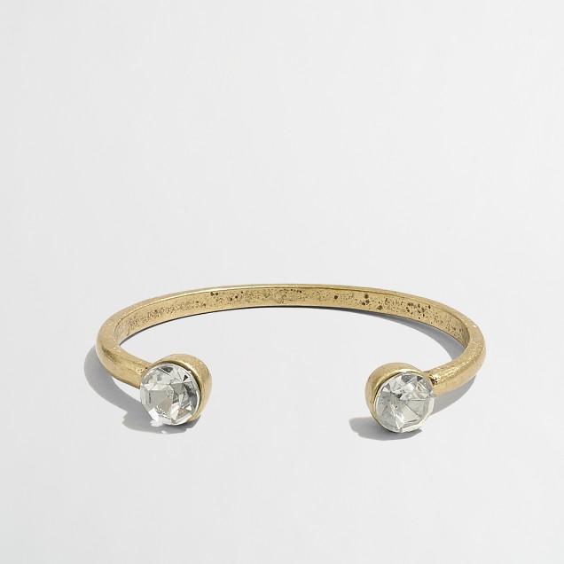 Accented open cuff bracelet
