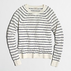 Factory striped textured sweater