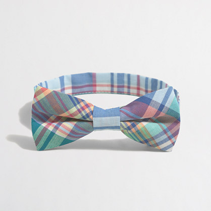 Boys' summer plaid bow tie