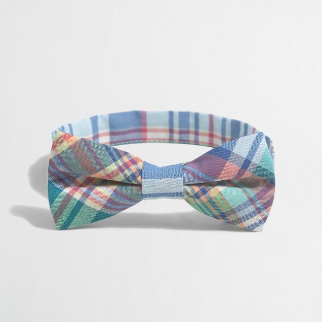 Boys' summer plaid bow tie