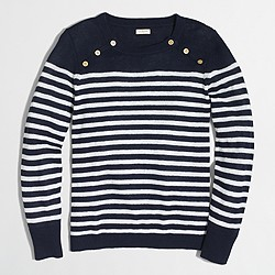 Factory sailor-striped pullover sweater