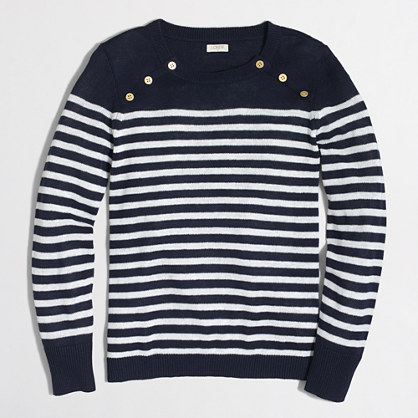 Sailor-striped pullover sweater