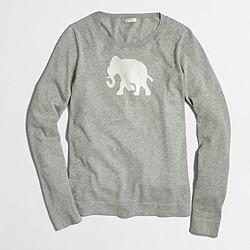 Factory elephant intarsia sweater