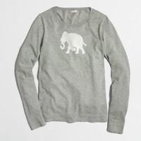 Elephant intarsia sweater