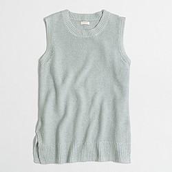 Factory linen sweater-tank top