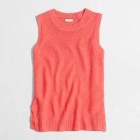 Linen sweater-tank top