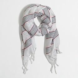 Factory neon thread scarf
