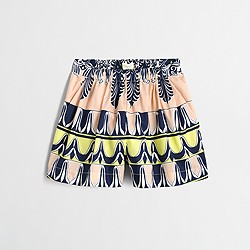 Factory girls' printed drapey pull-on short
