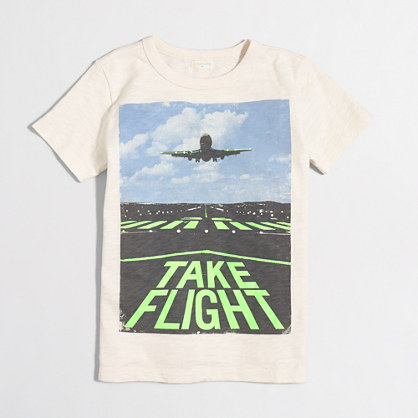 Boys' glow-in-the-dark take flight storybook T-shirt