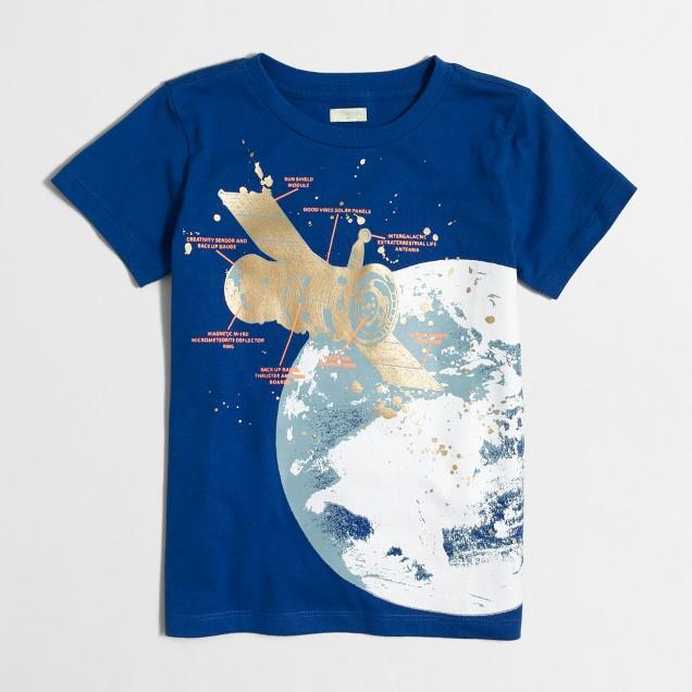 Boys' glow-in-the-dark satellite storybook T-shirt