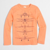 Boys' long-sleeve planes storybook T-shirt