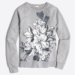Factory floral blockprint sweatshirt