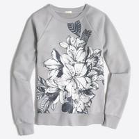 Floral blockprint sweatshirt