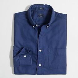 Factory slim tonal oxford shirt