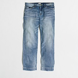 Factory Harper wash cropped straight jean
