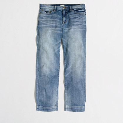Harper wash cropped straight jean