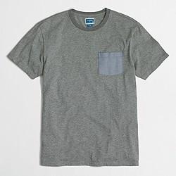 Factory chambray pocket T-shirt