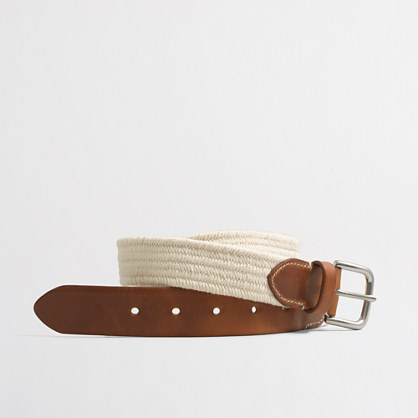 Elastic braided belt