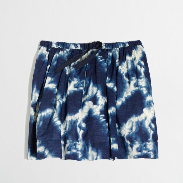 Girls' printed drawstring skirt in voile