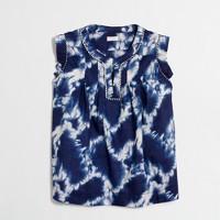 Girls' flutter-sleeve printed shell