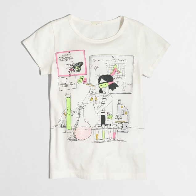 Girls' science lab keepsake T-shirt