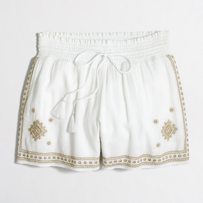 """3"""" embroidered pull-on short"""