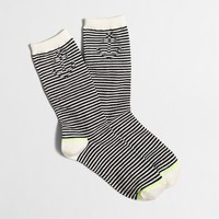 Hidden anchor striped trouser socks