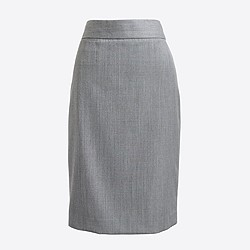 Factory lightweight wool pencil skirt