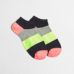 Factory colorblock tennie socks