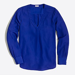 Factory drapey V-neck blouse