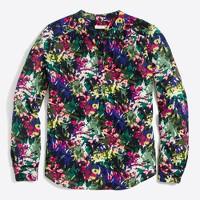 Printed henley blouse