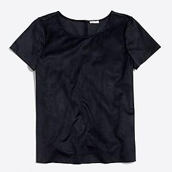 Faux-suede T-shirt