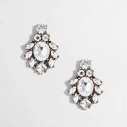 Factory crystal cluster earrings