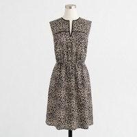 Printed V-neck flounce dress