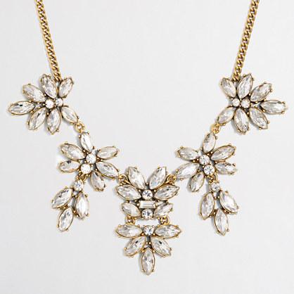 Hanging floral gemstone necklace
