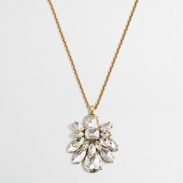 Crystal beetle pendant necklace